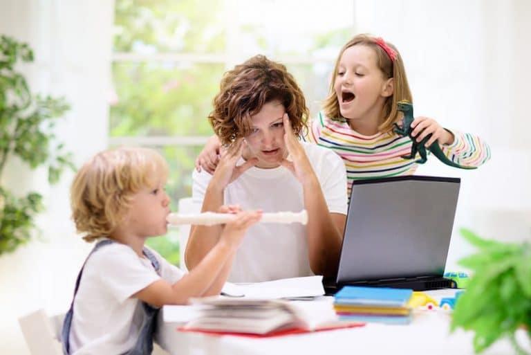 lavorare da casa con bambini