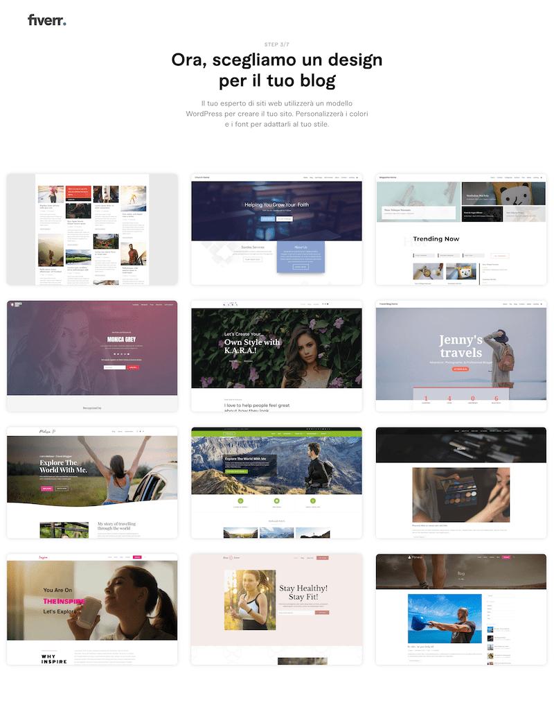fiverr creare sito web