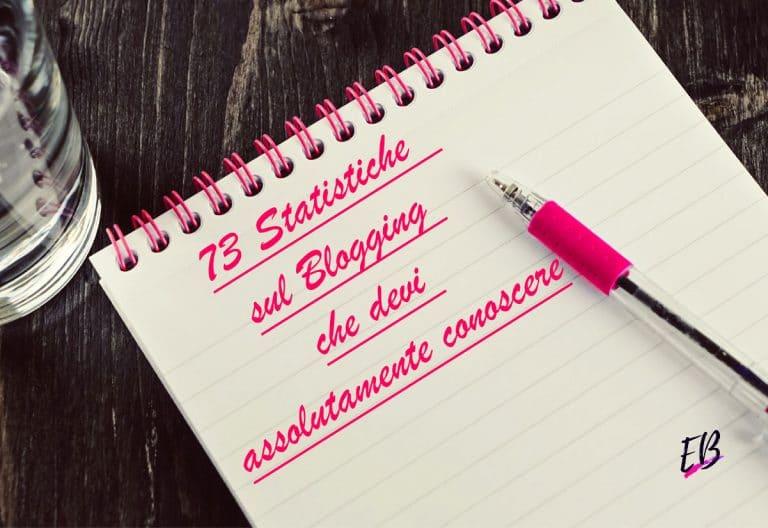 statistiche blogging