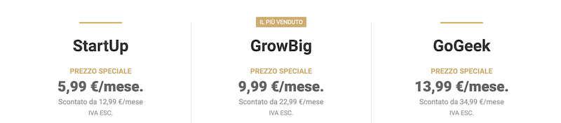 Quanto costa siteground