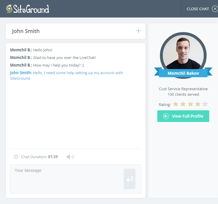 chat siteground