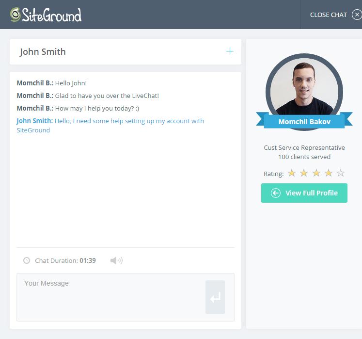 chat siteground