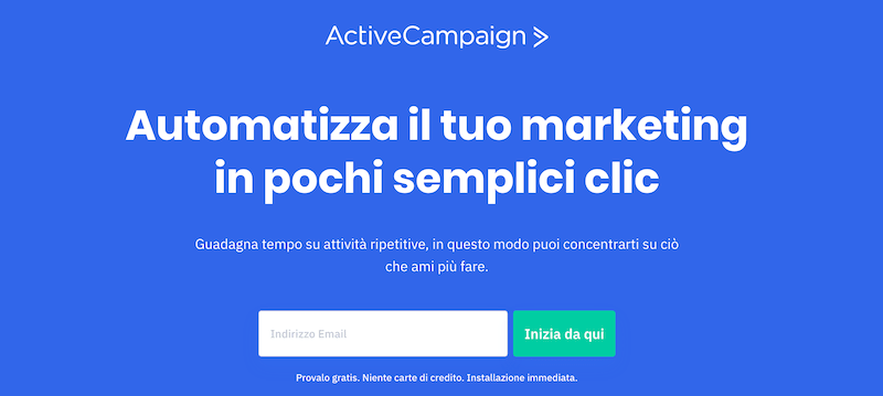 active campaign homepage