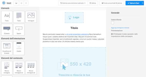 creare email sendinblue