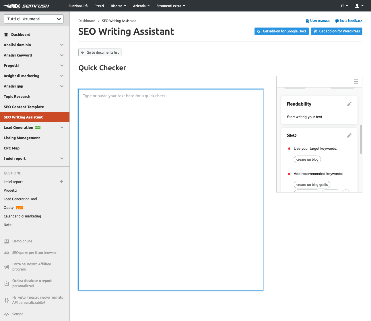 seo writing assistent