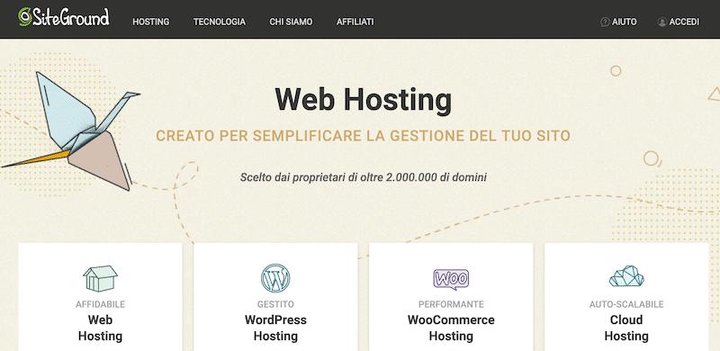 siteground homepage
