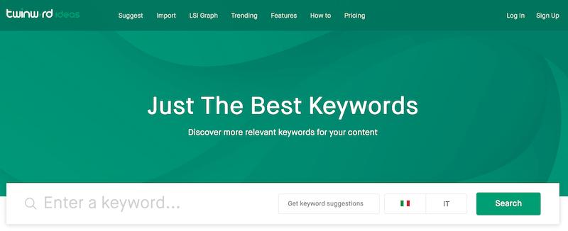 twinword keyword tool
