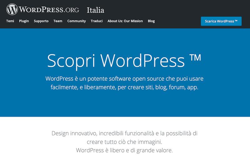 wordpress homepage