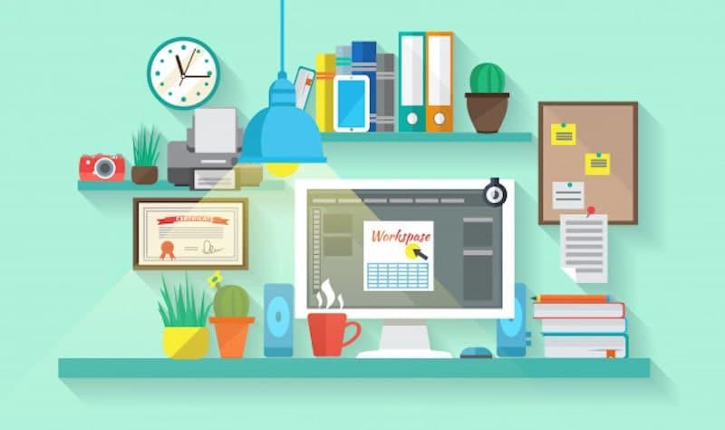 spazio di lavoro freelance