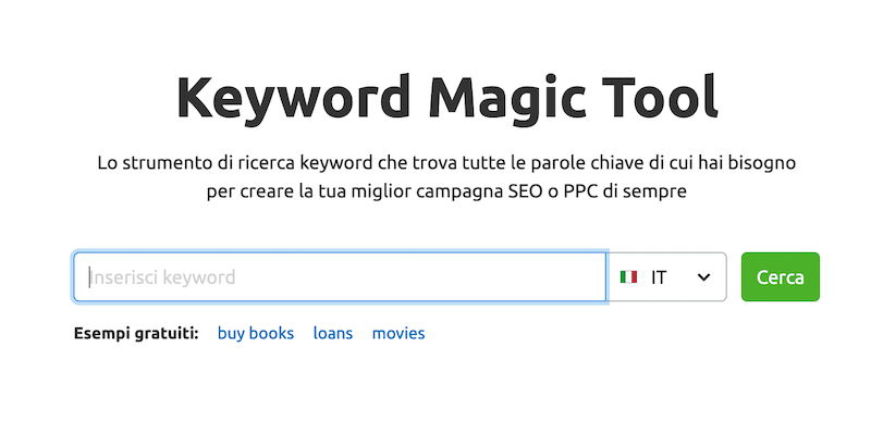 kw magic tool semrush