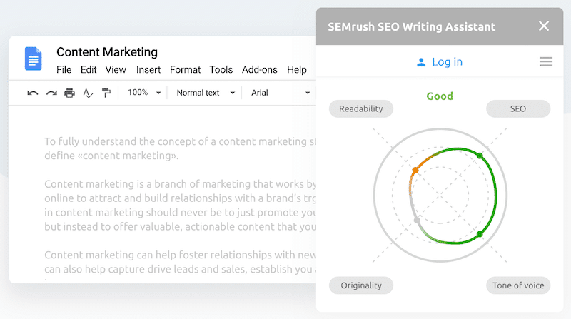 semrush seo wrtiting assistant