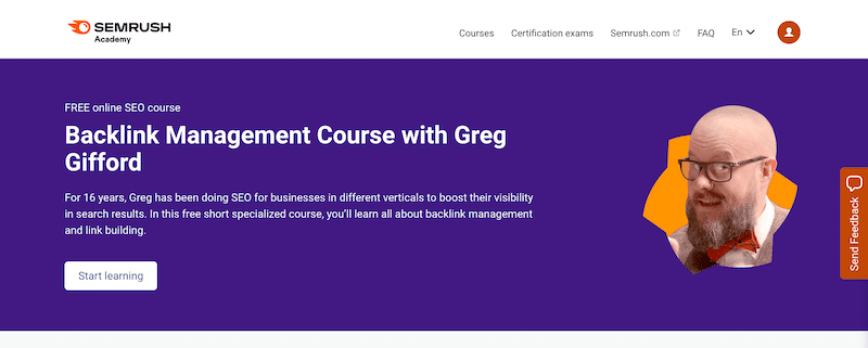 Backlink Management Course with Greg Gifford