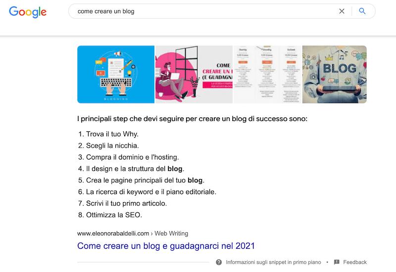 snippet come creare un blog