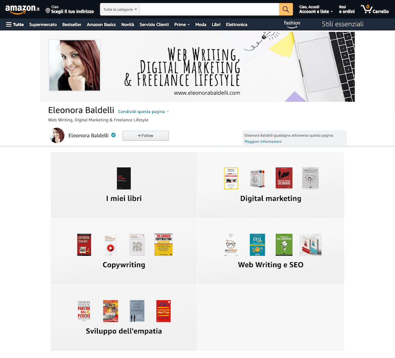 Amazon Influencer Eleonora Baldelli