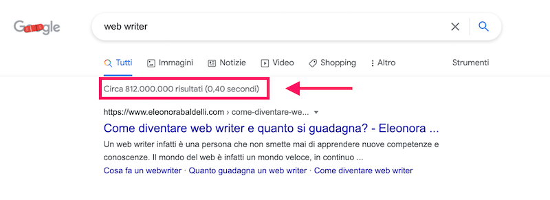essere primo su Google